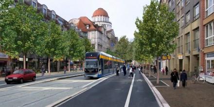 Stadtgestalterische Begleitung Umbau Peterssteinweg/ Karl-Liebknecht-Straße