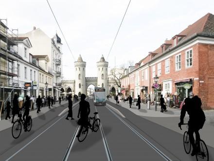 Verkehrliche Umgestaltung der Friedrich-Ebert-Straße Potsdam
