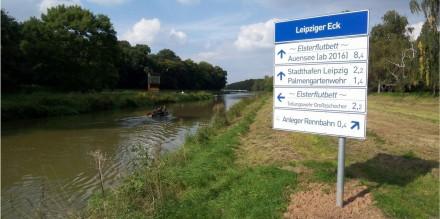 Beschilderungskonzept Kurs 1 im Gewässerverbund Leipzig