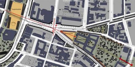 Neugestaltung der Straßenachse Augustusplatz – Johannisplatz