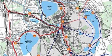 Touristisches Radroutennetz Borna