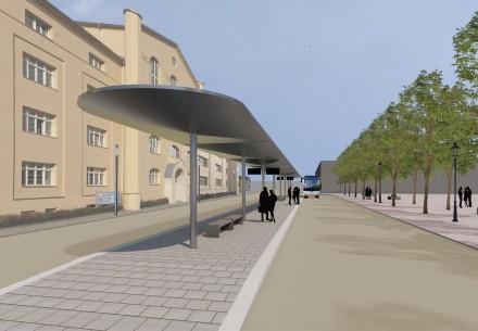 Planung einer Rendezvoushaltestelle am unteren Karlsplatz Bernburg