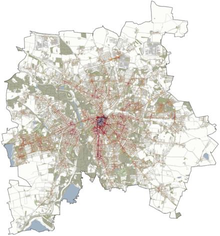 Bedeutungsräume des Fußverkehrs in Leipzig